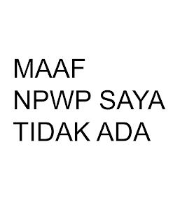 Contoh penganti NPWP