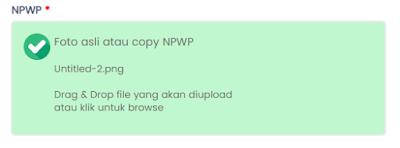 Upload NPWP berhasil