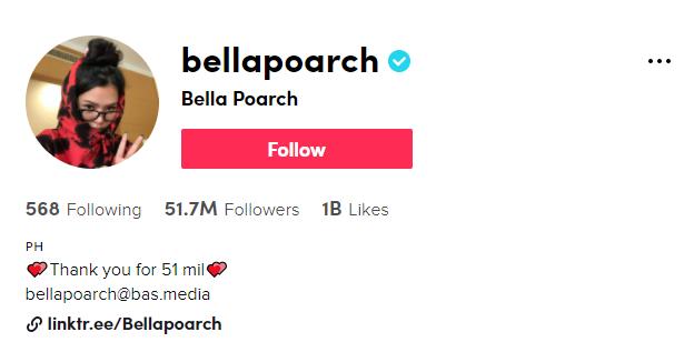 https://www.tiktok.com/@bellapoarch
