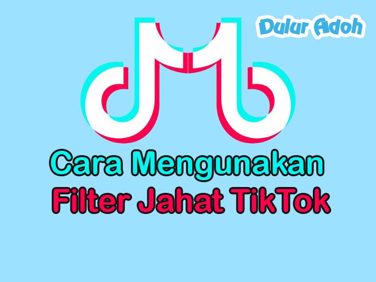 Cara Mengunakan Filter Jahat TikTok