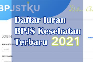 Daftar Iuran BPJS 2021