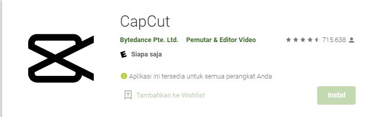 Aplikasi CapCut