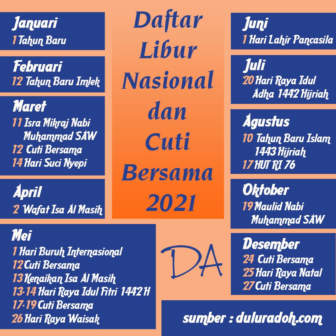 Kalender Hari Libur 2021