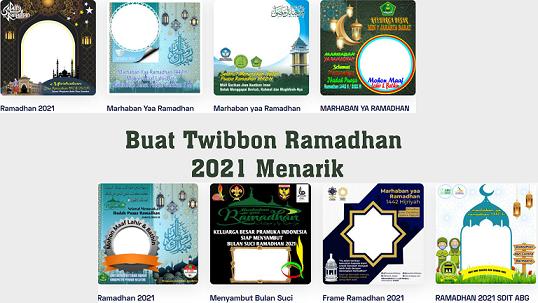 Buat Twibbon Ramadhan 2021 Menarik, Klik di Twibbonize