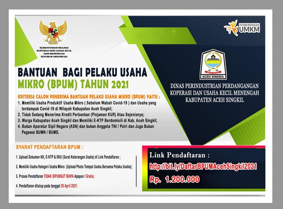 Brosur BPUM Kabupaten Aceh Singkil