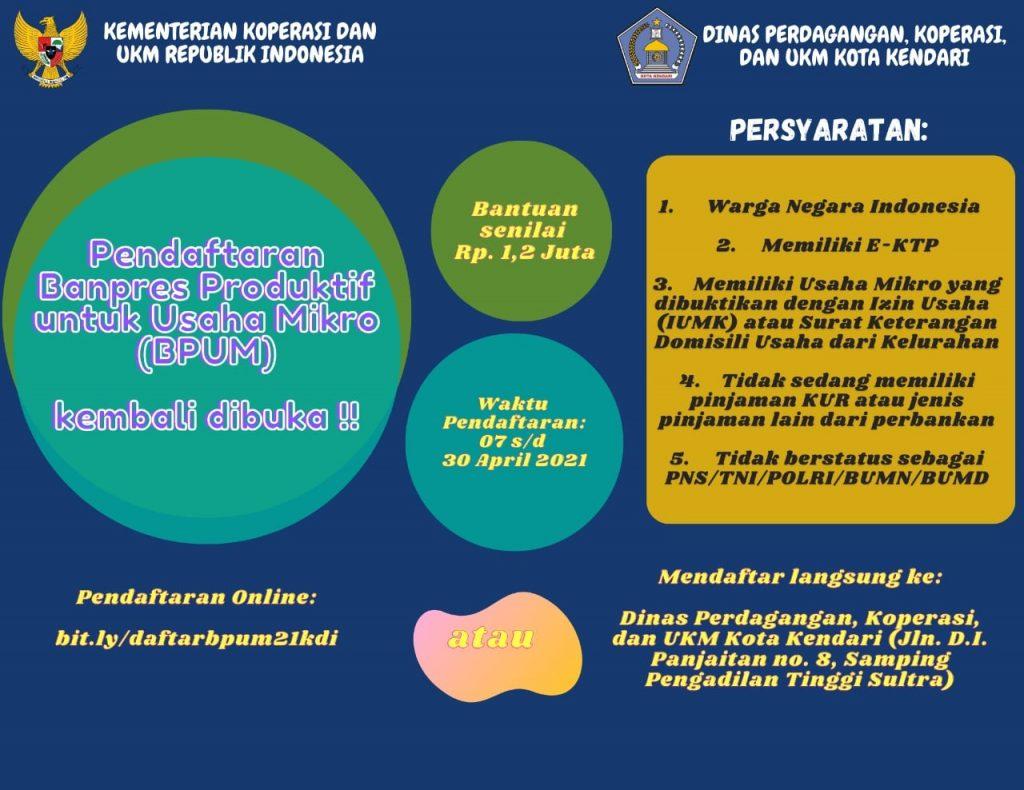 brosur Edaran Bantuan BPUM Kota Kendari