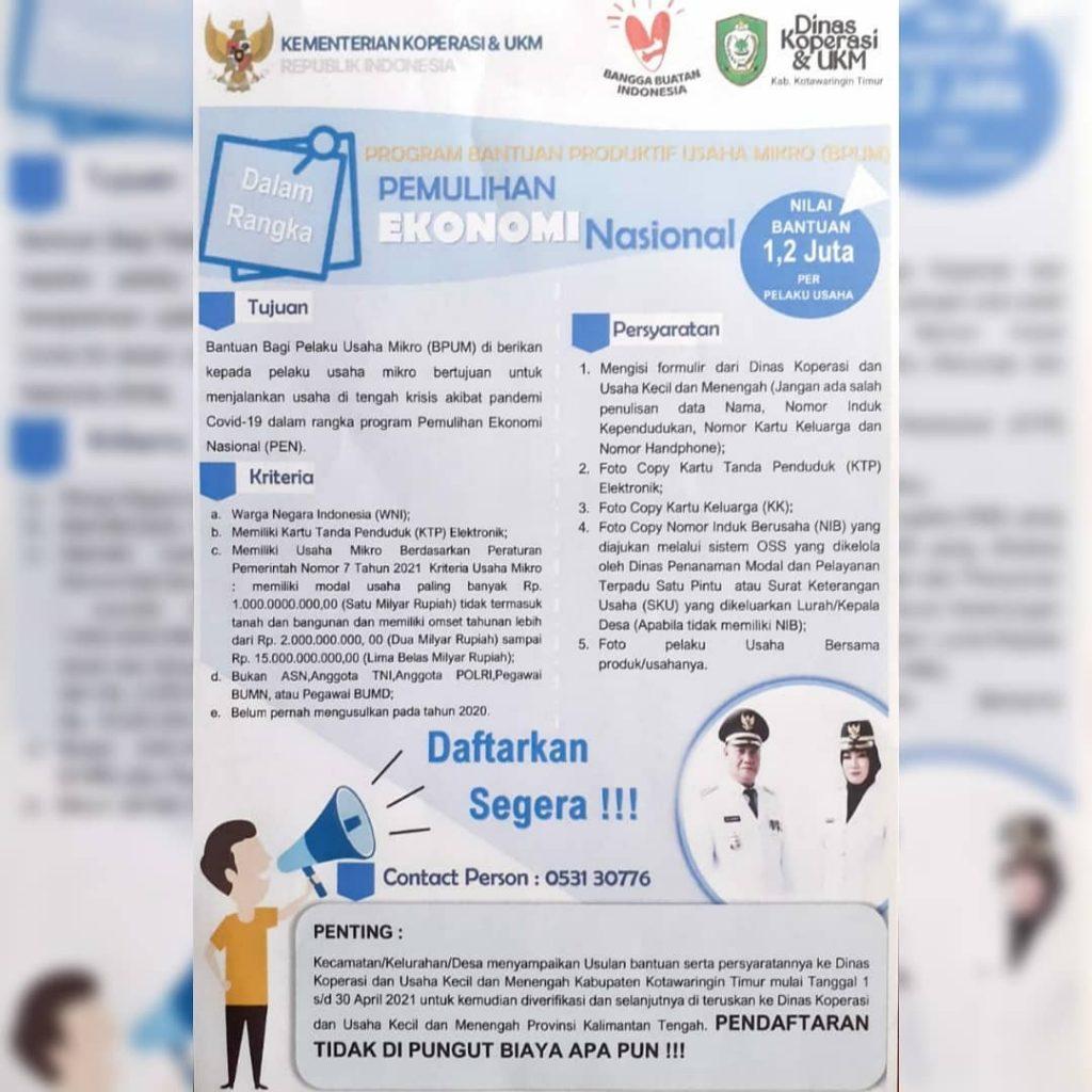 Brosur Pendaftaran PBUM Tahap 3 Kotawaringin Timur - Sumber @kominfo.kotim