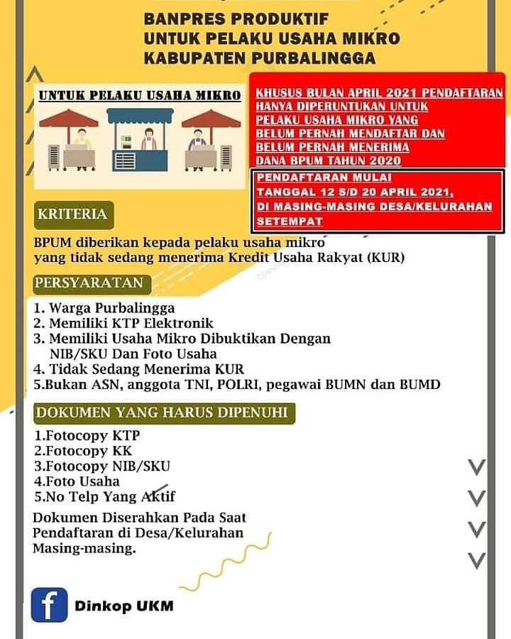 Cara Mendaftar BPUM Tahap 3 2021 di Purbalingga