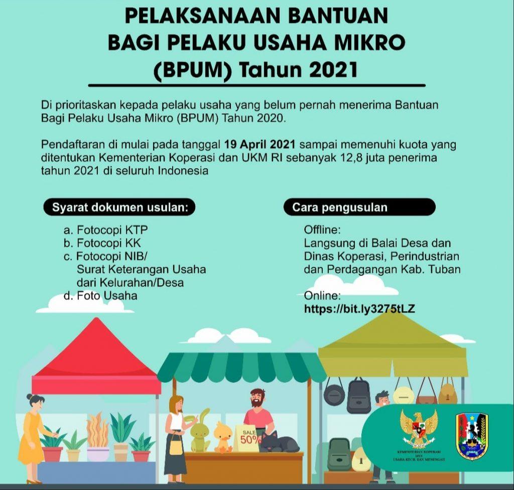Brosur Pendaftaran Online BPUM Kabupaten Tuban