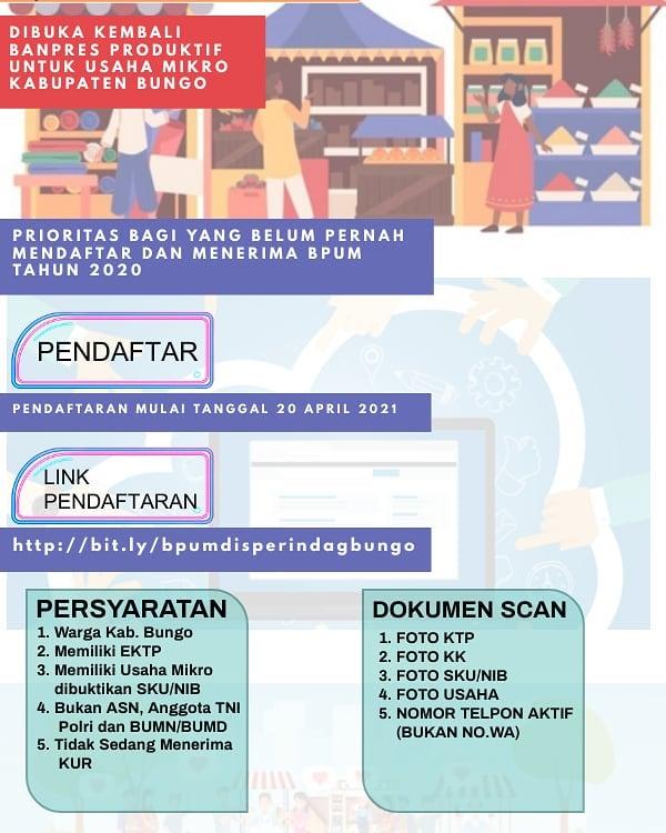 Brosur Informasi Seputar Dinas Koperindag Kab. Bungo