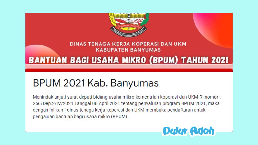 Link Pendaftaran BPUM 2021 Kab. Banyumas https://bit.ly/bpumbms2021