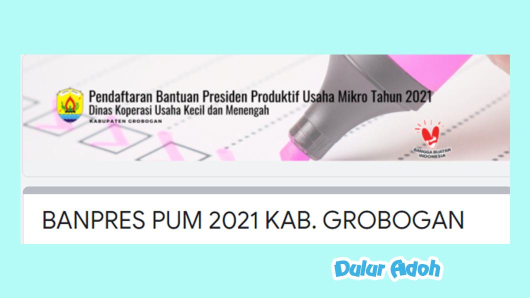 Link Pendaftaran BPUM 2021 Kabupaten Grobogan https://bit.ly/BPUMGrobogan2021