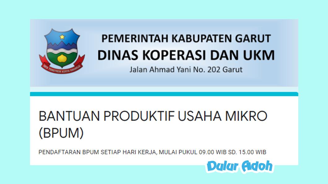 Link Pendaftaran BPUM 2021 Kab. Garut http://bit.ly/BPUMGARUT2021