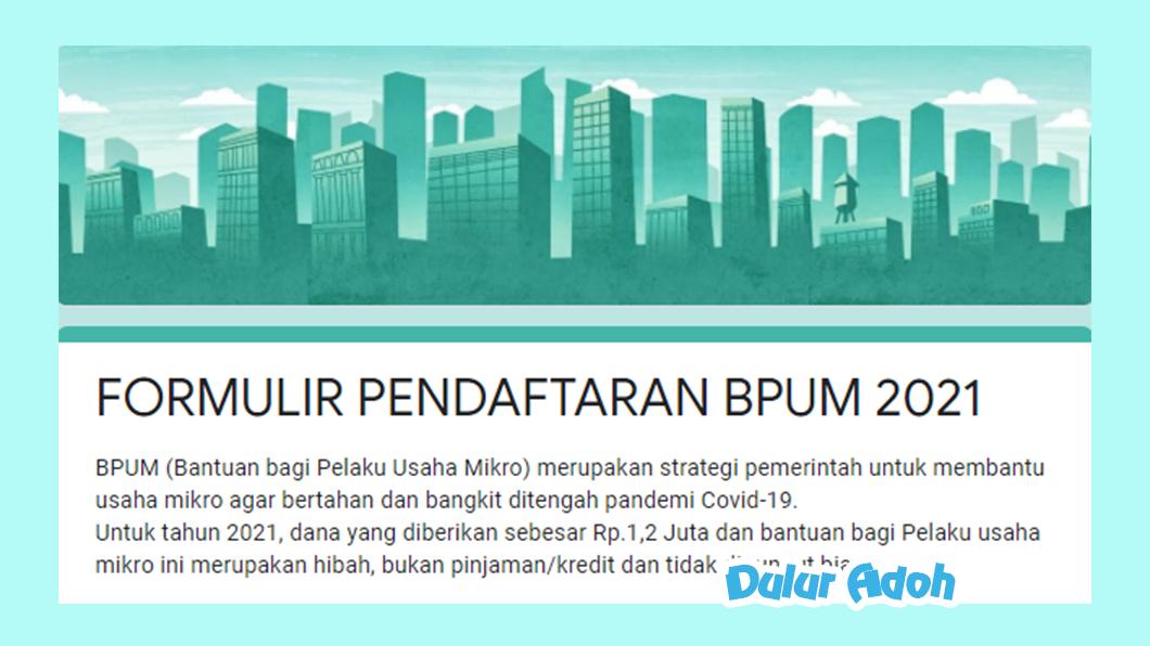 Link Pendaftaran BPUM 2021 Kabupaten Lumajang https://tinyurl.com/3ucdj6uf