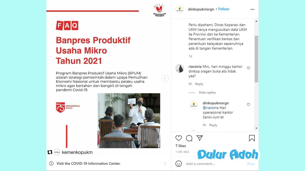 Link Pendaftaran BPUM 2021 Tahap 3 Kabupaten Sragen Terbaru