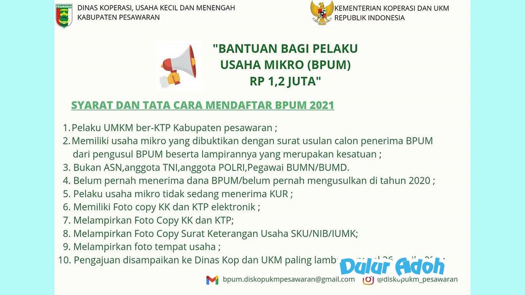 Link Pendaftaran BPUM 2021 Tahap 3 Kabupaten Pesawaran Terbaru
