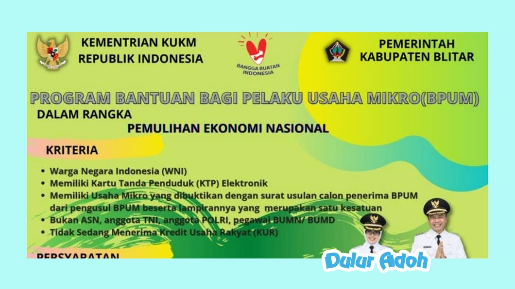 Link Pendaftaran BPUM 2021 Tahap 3 Kabupaten Blitar Terbaru