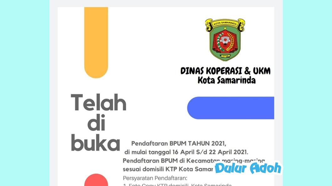 Link Pendaftaran BPUM 2021 Tahap 3 Kota Samarinda Terbaru