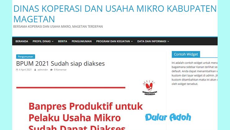 Link Pendaftaran BPUM 2021 Tahap 3 Kabupaten Magetan Terbaru