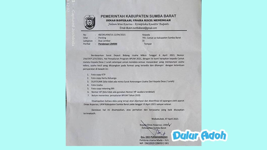 Link Pendaftaran BPUM 2021 Tahap 3 Kabupaten Sumba Barat Terbaru