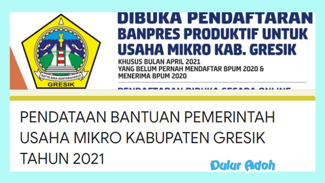 Link Pendaftaran BPUM 2021 Kabupaten Gresik http://bit.ly/BPUMGresik2021