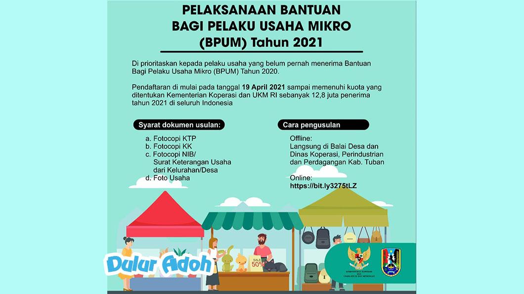 Link Pendaftaran BPUM 2021 Kabupaten Tuban Terbaru https://bit.ly/3275tLZ
