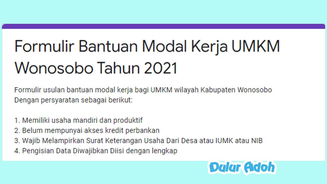 Link Daftar BPUM Tahap 3 Kab. Wonosobo 2021 http://Bit.ly/BPUMKabWonosobo2021