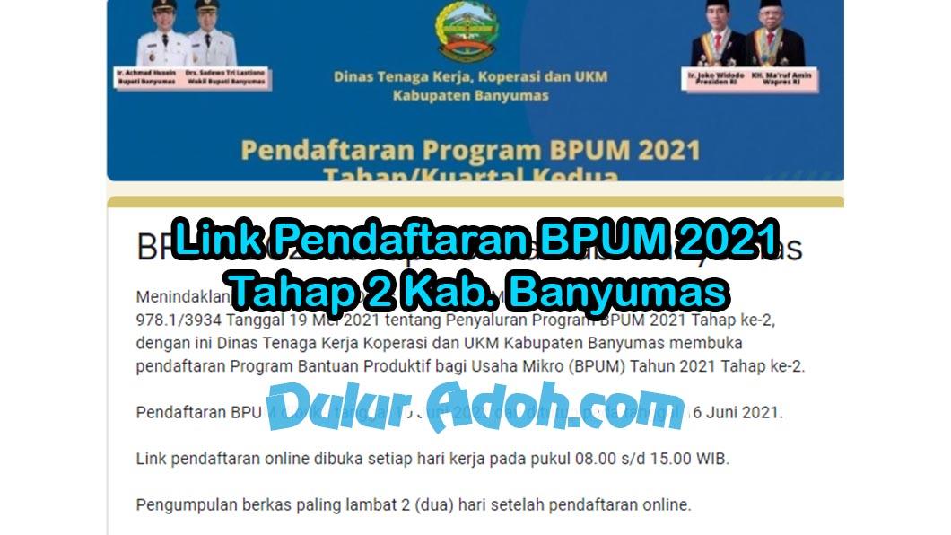 Link Daftar BPUM Tahap 2 Kab. Banyumas Juni 2021 https://bit.ly/bpumbms2