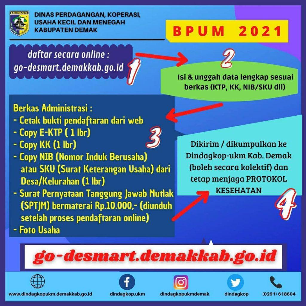 Brosur Pembukaan Pendaftaran Penerima BPUM 2021 Tahap III Kabupaten Demak