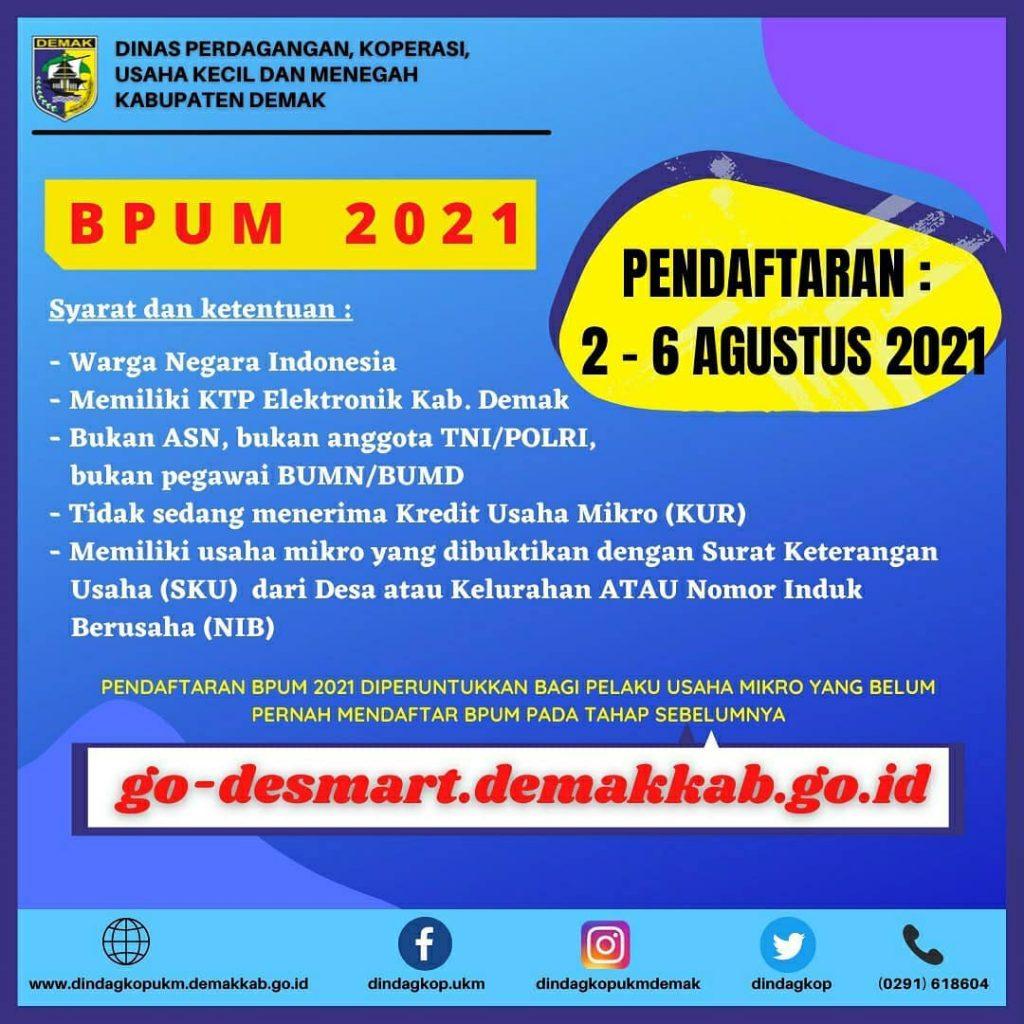 Brosur Pembukaan Pendaftaran Penerima BPUM 2021 Tahap III Kabupaten Demak1