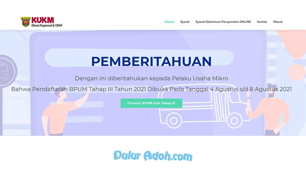 Link Daftar BPUM Tahap 3 Kota Samarinda Agustus 2021 lapakopiku.samarindakota.go.id