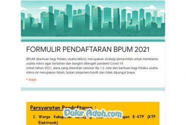 Link Daftar BPUM Tahap 4 Kab. Lumajang September 2021 bit.ly/PENDAFTARAN_BPUM