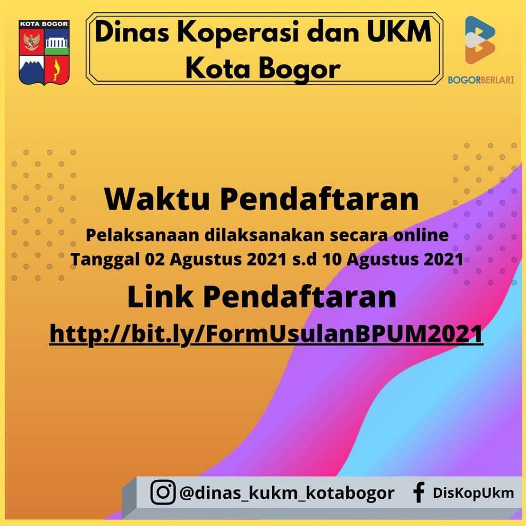 Brosur Pembukaan Pendaftaran Penerima BPUM 2021 Tahap III Kota Bogor 3
