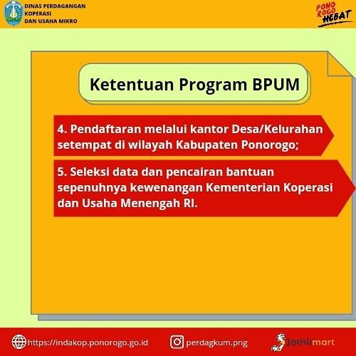 Ketentuan Brosur Pembukaan Pendaftaran Penerima BPUM 2021 Tahap III Kabupaten Ponorogo 2