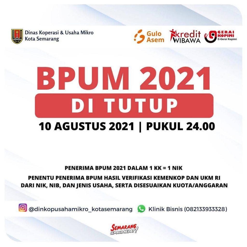 Brosur Pembukaan Pendaftaran Penerima BPUM 2021 Tahap III Kota Semarang