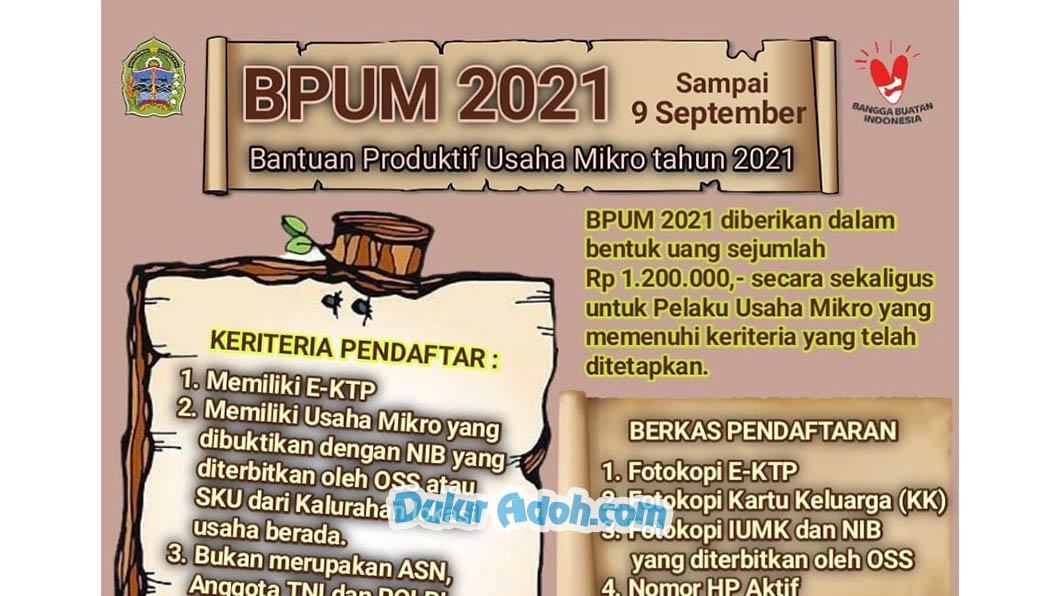 Info Pendaftaran BPUM Tahap 4 Kabupaten Gunungkidul September 2021
