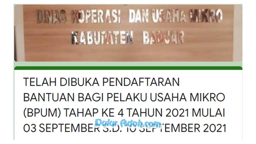 Link Daftar BPUM Tahap 4 Kab. Banjar September 2021 tinyurl.com/daftarbpumbanjarkalsel2021