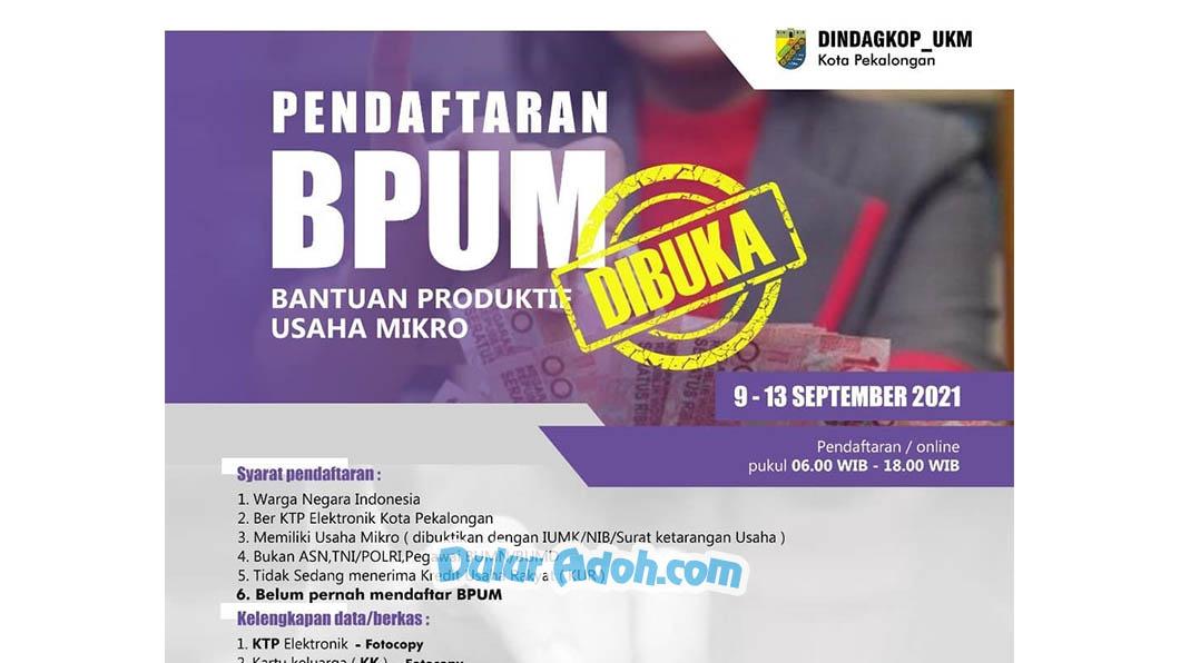 Link Daftar BPUM Tahap 4 Kota Pekalongan September 2021 tinyurl.com/bpum21kotapekalongan