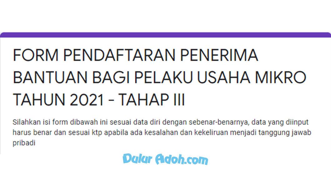 tinyurl.com/xz9bveyb Klik Link Daftar BPUM Tahap 4 Kab. Jepara September 2021