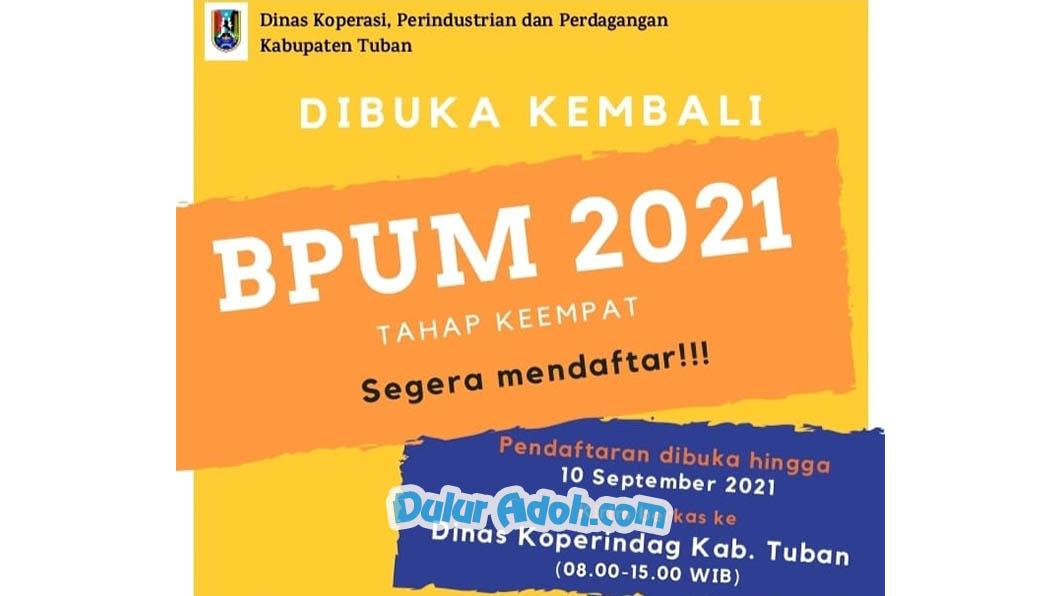 Begini Pendaftaran BPUM Tahap 4 Kab. Tuban September 2021