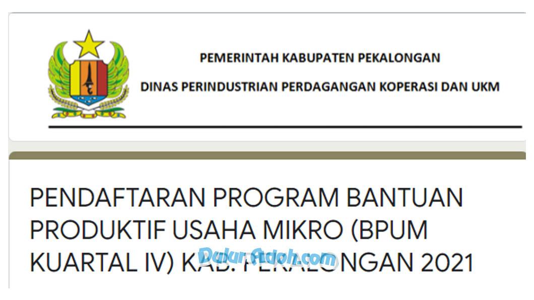 Link Daftar BPUM Tahap 4 Kabupaten Pekalongan September 2021 bit.ly/BPUM2021Pekalongan Update