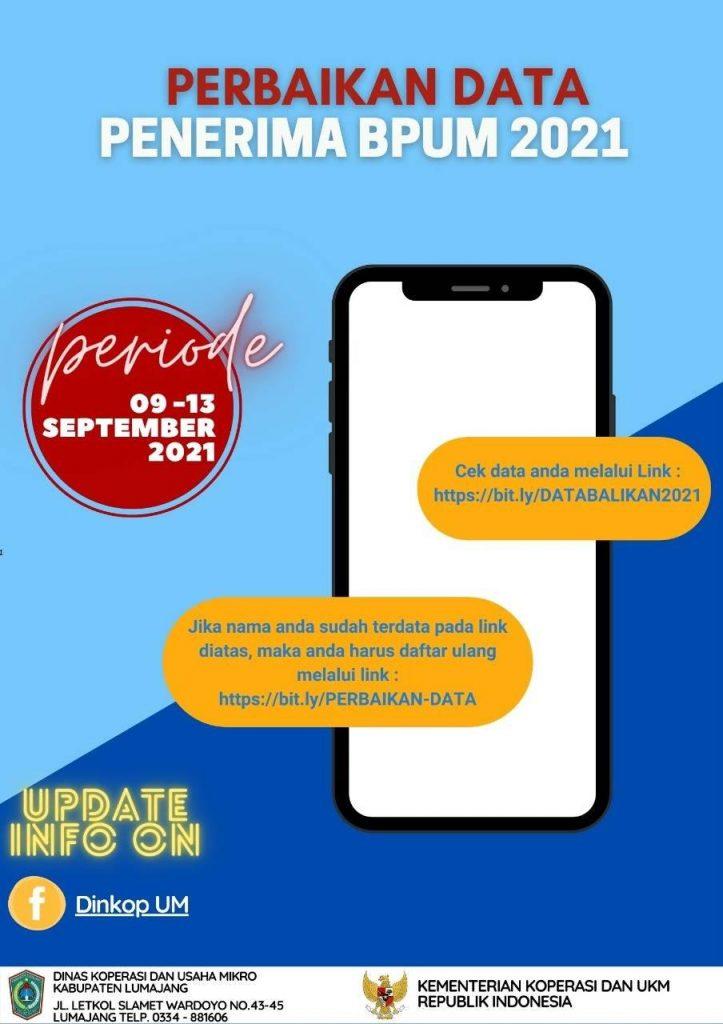Brosur Pembukaan Pendaftaran Penerima BPUM 2021 Tahap IV Kabupaten Lumajang