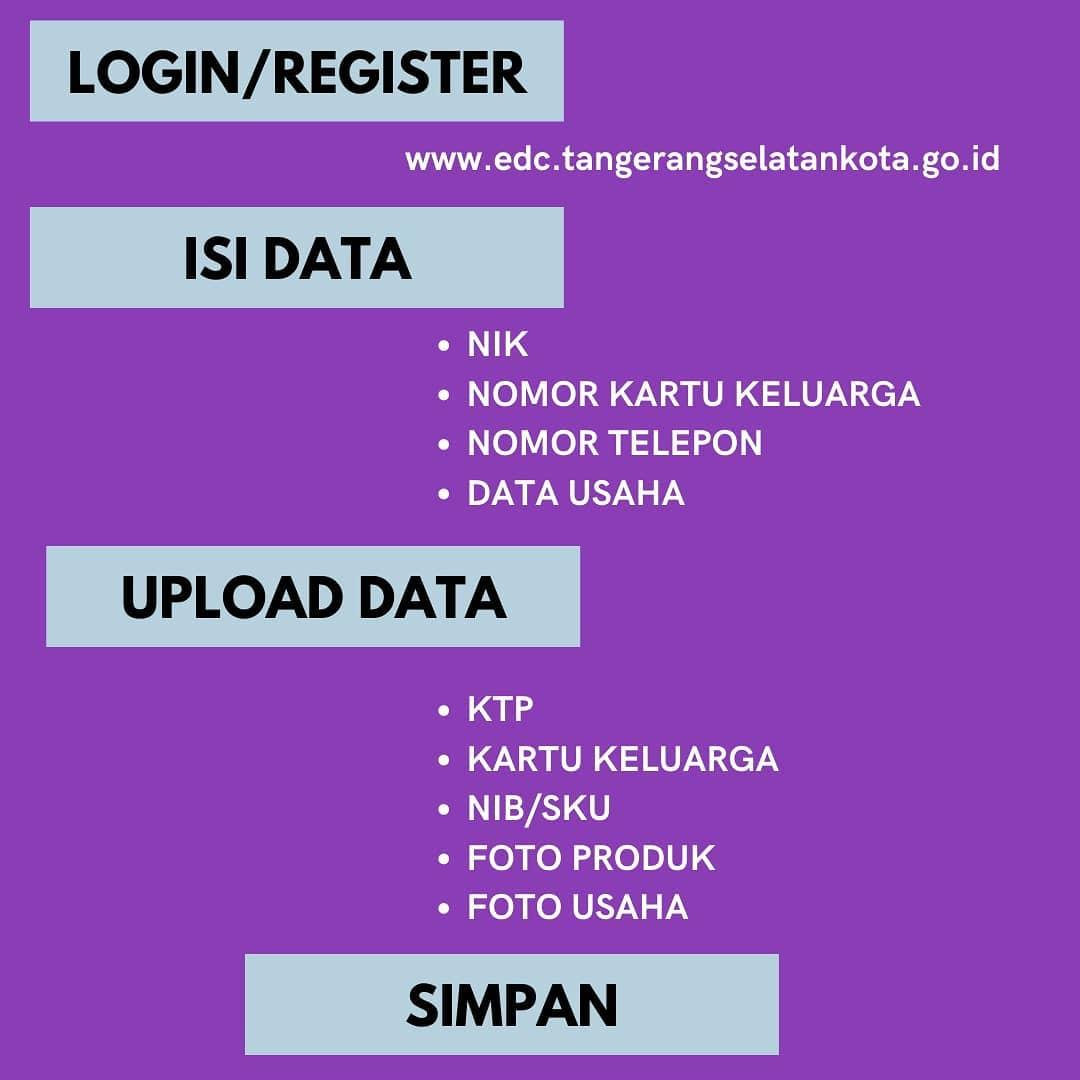 Brosur Pembukaan Pendaftaran Penerima BPUM 2021 Tahap IV Kota Tangerang Selatan